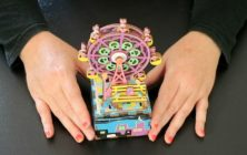 Building a 3D Ferris Wheel Music Box Wooden Puzzle | ASMR Art & Craft – silent, no talking